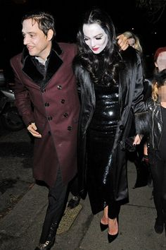 2012 Jamie Hince and Kate Moss dressed up as Morticia and Gomez Addams to attend Jonathan Ross's Halloween party at his house in Hampstead.