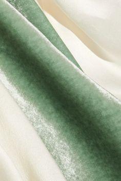 Hillier Bartley | Silk-satin and velvet turtleneck top | NET-A-PORTER.COM