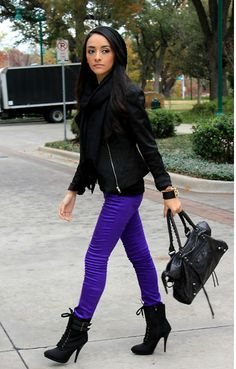 Black and Purple (by Mayte Hauxwell) http://lookbook.nu/look/2792739-Black-and-Purple