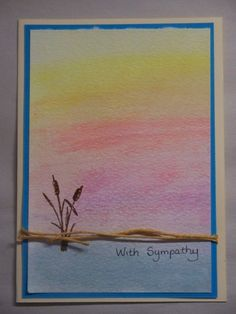 Sympathy watercolor card