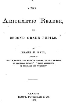 The Arithmetic Reader for Second Grade Pupils Public Domain Books, Queen's College, University Of Minnesota, Harvard University, Essex County, Circuit Court, American Literature, Arithmetic, Library Of Congress