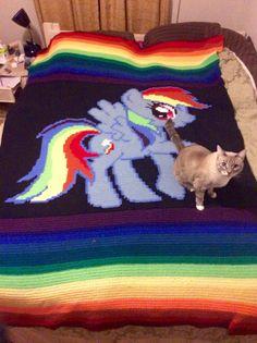 Rainbow Dash Crochet Blanket