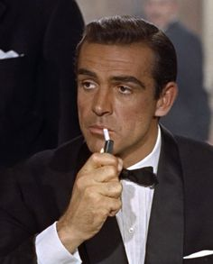 Sean Connery / 007. The pinnacle of cool. Sean Connery James Bond, James Bond Actors, James Bond Movies, All The James Bonds, Old Movies, Aston Martin Db5, Famous Film Quotes, James Bond Style, Bond Series