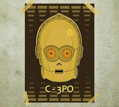 C3PO Star Wars poster print A3 by MixPosters on Etsy, $19.00