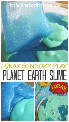 Planet Earth Slime Lorax Sensory Play