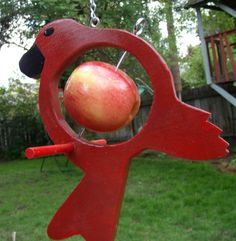 Cardinal Red Bird Fruit Feeder on Etsy, $15.00