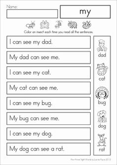 Sight Word Sentences Fluency Reading Homework (Pre-Primer). These sight word sentences are perfect for beginning readers to help build confidence and develop reading fluency.