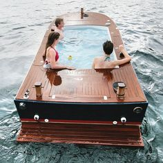 Hot tub boats are all the rage these days, but now you can relax on the high seas and go green at the same time with this electric hot tub boat. Featuring...