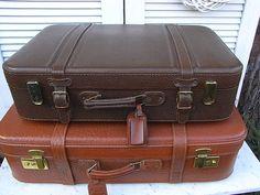 Vintage Koffer - vintage Leder Koffer Reisekoffer 50er - ein Designerstück von artdecoundso bei DaWanda