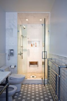 Master Bathroom | Carnegie Hill Apartment Renovation | New York, New York | Designed by Pier, Fine Associates | To explore more of our projects and designs, visit www.pierfine.com