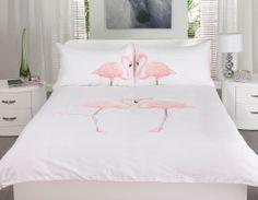 Dwell Flamingo White Bedding Set