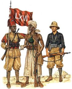 Invasion of British Somaliland, 1940 • Jusbasci, 66th (Eritrean) Colonial Bn, 17th Colonial Bde  • 'Dubat' chief-commander  • Camicia nera, MVSN 11th Blackshirt Legion