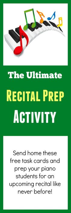 "Here's a printable you can use to prep your piano students for ""The Big Day"" #recital #piano"