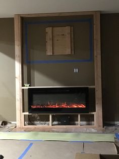 11 Best Wall Mount Electric Fireplace Ideas For Living Room – Farmhouse Room - Electric Fireplace Fireplace Tv Wall, Build A Fireplace, Basement Fireplace, Fireplace Built Ins, Farmhouse Fireplace, Faux Fireplace, Fireplace Remodel, Living Room With Fireplace, Fireplace Design