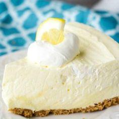Lemon Cheesecake Diabetic Desserts, Lemon Desserts, No Bake Desserts, Just Desserts, Spring Desserts, Spring Recipes, Diabetic Recipes, Healthy Recipes, Lemon Icebox Pie