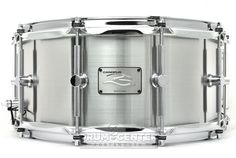 Canopus 'The Steel' Snare Drum 14x6.5 Hairline Finish
