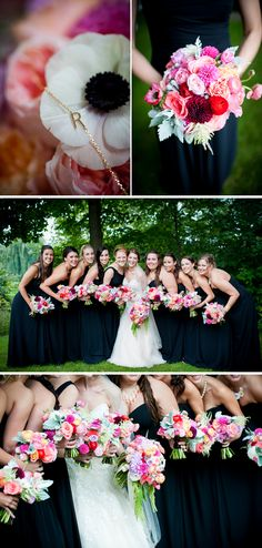 Love the bridesmaids bouquets and the monogrammed bracelets they all wore! Amazing! {LinneaLiz Productions}