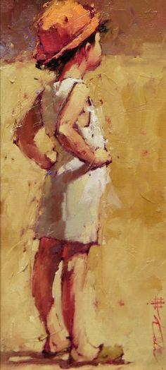 Andre Kohn 1972   Russian-born Figurative Impressionist painter   Ladies and hats