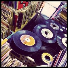 lots and lots of back in the day records (i.e. 45s and albums) :o)