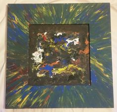 """""""Intertexing"""" 14.5"""" X 14.5"""" by Charles Peter Watson, acrylic paint on wood frame $60"""