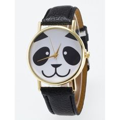 Panda Face Dial Plate Quartz Watch #>=#>=#>=#>=#> Click on the pin to check out discount price, color, size, shipping, etc. Save and like it!