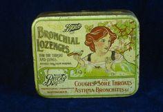 22578 Old Vintage Antique Tin Chemist Shop Boot's Bronchial Lozenges Art Noveau | eBay