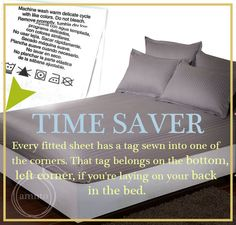A Mum 'n the Oven: Time Saver : Tag on Fitted Sheet