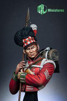 1 10 MJ Miniatures 79th Cameron Highlander Waterloo Unpainted Resin Kit MJ10 003 | eBay