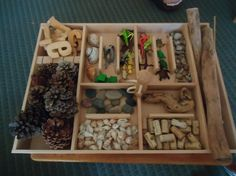 Loose parts tray at the blocks area from Hilda on reggio-inspired