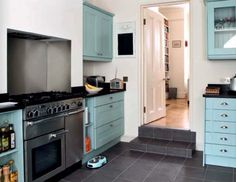 Personality Is Preferred: Amazing Turquoise Kitchen