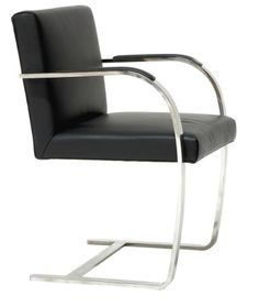 The Canti Flat Arm Chair by Alphaville Design is one of the greatest and most famous chairs of all time. Designed by the legendary Mies van der Rohe in Brno, Czechoslovakia, the chair is meant to reflect the simplicity of the environment. Bauhaus Furniture, Steel Furniture, Furniture Chairs, Modern Furniture Toronto, Long Chair, Conference Room Chairs, Wayfair Living Room Chairs, Ludwig Mies Van Der Rohe, Modern Dining Chairs