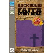 Rock Solid Faith Study Bible for Teens, NIV: Build and Defend Your Faith Based on God's Promises, Italian Duo-Tone, Violet