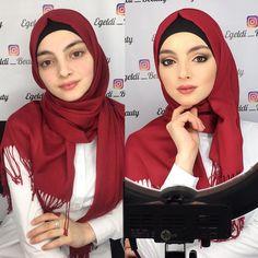 Beautiful Muslim Women, Beautiful Hijab, Hijab Niqab, Girl Hijab, Pashmina Scarf, Hijab Fashion, Makeup, Apple Orchard, Pretty