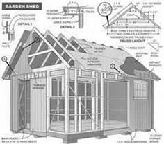 Free 12 x 8 Shed Plan With Illustrations, Blueprints & Step By Step Details. # build a shed # free shed plan # plans for a shed # garden shed plans # storage shed # wood shed plans
