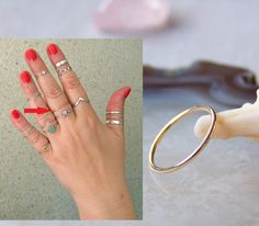 Solid 9ct Gold Midi Ring Band Ring Above Knuckle Ring Plain Ring 1mm. All sizes