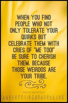 A wee clan or tribe...that's what we are <3