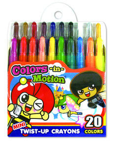 So cute 20 mini Twist-up crayon