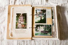 DIY Photo Album. Am thinking - ring binder, fabric, mis-matched papers and photos - oh so many photos of my baby boy......