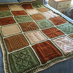 Washboard Sampler Afghan--Free Knit Pattern ❄️