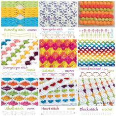 Crochet Stitches + Diagrams