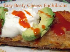 Enchiladas are an easy delicious meal. There are endless options for the fillings.Use chicken, pork, beef, vegetarian, the combinations are endless. Today, I have made Easy Cheesy Beef Enchiladas w…