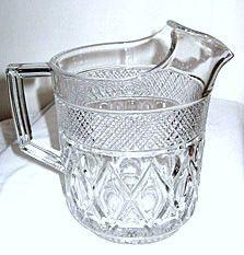 "Elegant Glass - Imperial - Cape Cod - 60 oz Ice Lip Pitcher - 8"""