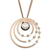 Chopard 797625-5001 Rose Gold Happy Diamond Circle and Star Large Round Pendant