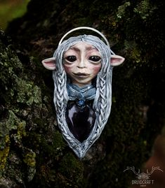 This lovely gelfling princess is looking for a new loving home. Find Her in my shop, in the link at the top. Jewelry Shop, Handmade Jewelry, Jewelry Making, Crystal Jewelry, Crystal Necklace, The Dark Crystal, Polymer Clay Art, Amethyst Crystal, Rainbow Moonstone