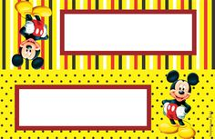 Mickey Mouse Kit festa infantil grátis para imprimir – Inspire sua Festa ® Mickey Mouse E Amigos, Minnie Mouse, Mickey Mouse Parties, Mickey Party, Mickey Mouse And Friends, Mickey Mago, Circo Do Mickey, Arabic Alphabet Letters, Disney Classroom
