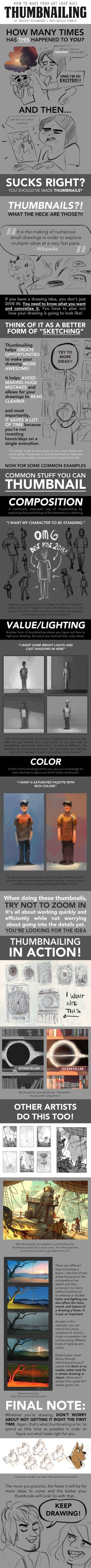HOW TO MAKE YOUR ART LOOK NICE: Thumbnailing by trisketched on DeviantArt