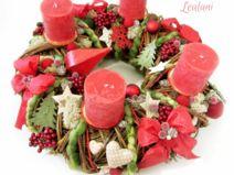 """Adventskranz """"Weihnachtswald in Rot"""""""