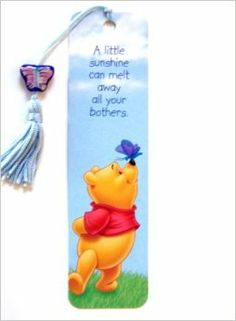 Winnie the Pooh bookmark butterfly on nose