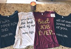 Always a joy to see customers receive mail day from Ezra + Eli. We have all of our tees available with off using the code: Momma Shirts, Mom Of Boys Shirt, Cute Shirts, Mein Style, Vinyl Shirts, Mommy Style, Textiles, Diy Shirt, Shirts With Sayings
