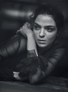 Mariacarla Boscono by Peter Lindbergh - Haute Couture for Vogue Italia March 2016.